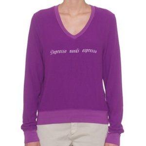 Widfox Depresso Needs Expresso Sweater Small